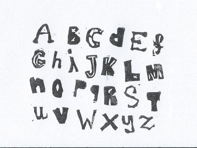 mijn stempel alfabet letters