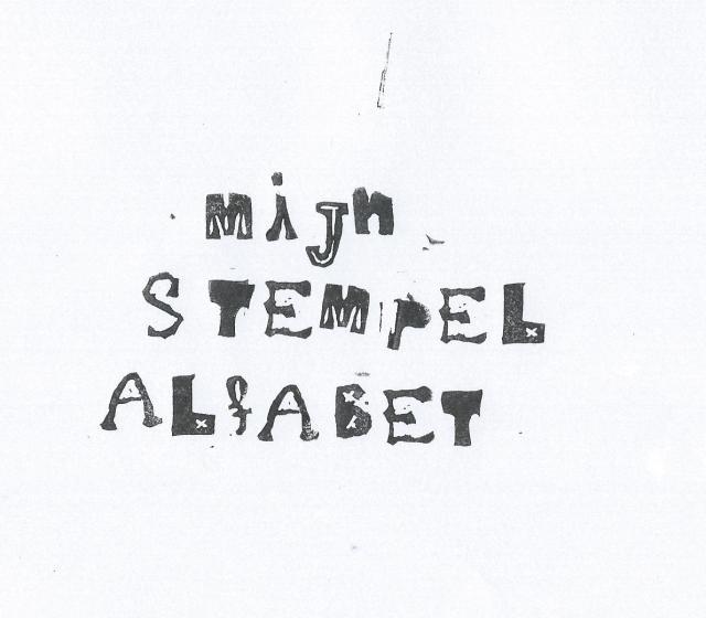 Mijn stempel alfabet